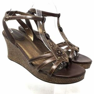 Vigoss Women's Ankle Strap Wedge Sandals Size 10m